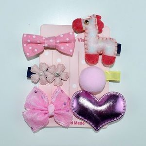 6 pieces Handmade Hair Accessories For Baby Girls